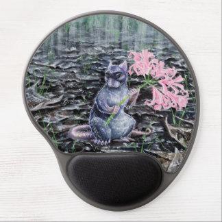 """Flores en gel Mousepad de la lluvia"" Alfombrilla Gel"