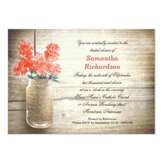 """flores en invitaciones nupciales de la ducha del invitación 5"""" x 7"""""""