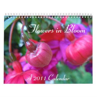Flores en la floración calendarios