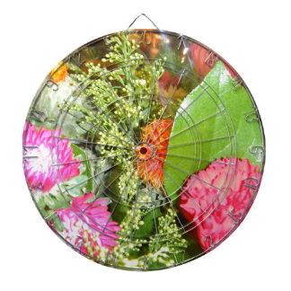 Flores en la floración tabla dardos