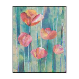 Flores en la impresión de la lona de la lluvia lienzo envuelto para galerias
