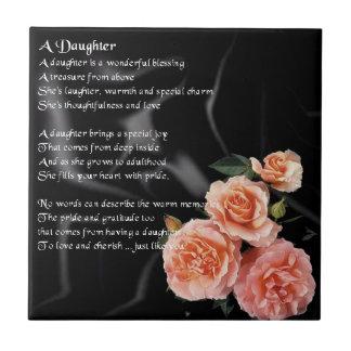Flores en la seda negra - teja del poema de la hij