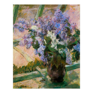 Flores en la ventana de Maria Stevenson Cassatt Impresiones