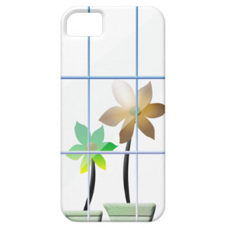 flores en la ventana iPhone 5 fundas
