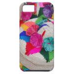 Flores en las cajas tejidas iPhone 5 carcasa