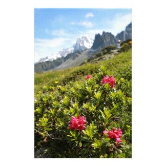 ¡Flores en las montañas - hermosas! Personalized Stationery