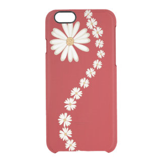 flores en línea funda clear para iPhone 6/6S