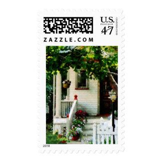 Flores en pasos timbres postales