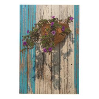 Flores en pote cuadros de madera