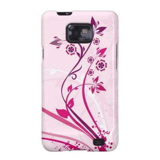 Flores en rosa galaxy s2 funda