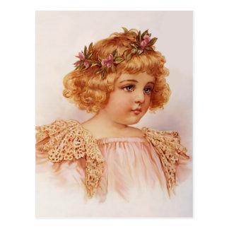 Flores en su pelo postales
