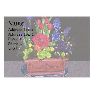 Flores en terracota tarjetas de visita grandes