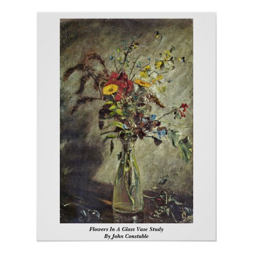 Flores en un estudio de cristal del florero de Joh Impresiones