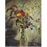Flores en un estudio de cristal del florero del po escultura fotografica