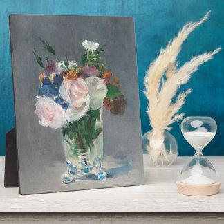 Flores en un florero cristalino, c.1882 (aceite en placa