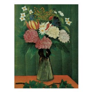 Flores en un florero de Henri Rousseau Tarjetas Postales