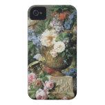 Flores en un florero del alabastro iPhone 4 Case-Mate protectores