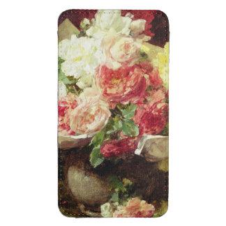 Flores en un florero funda acolchada para galaxy s4