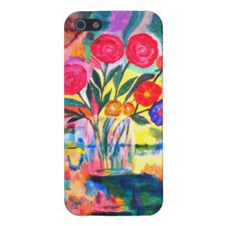 flores en un florero iPhone 5 funda