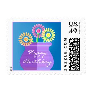 Flores en un florero sellos postales