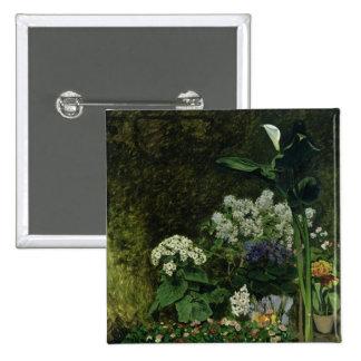 Flores en un invernadero, 1864 pin cuadrado