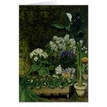 Flores en un invernadero, 1864 tarjeta