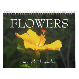 FLORES en un jardín de la Florida… Calendarios