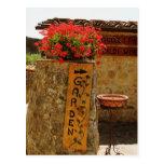 Flores en un jardín, Monteriggioni, Siena Postal