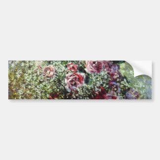 Flores en un pote - Claude Monet Pegatina Para Auto