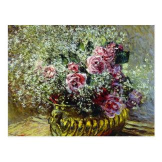 Flores en un pote - Claude Monet Tarjetas Postales