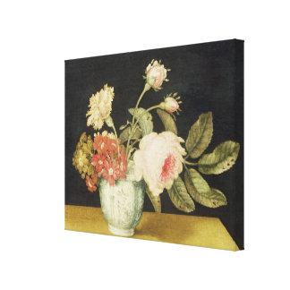 Flores en un tarro de Delft (aceite en el panel) Lienzo Envuelto Para Galerias