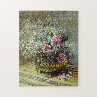 Flores en una bella arte de Monet del pote Rompecabezas Con Fotos