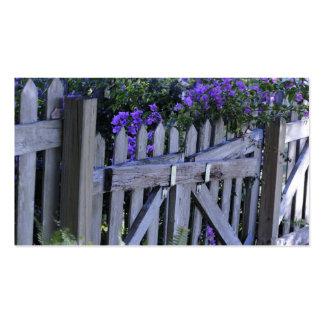 flores en una cerca tarjetas de visita