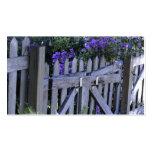flores en una cerca tarjetas de negocios