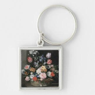 Flores en una cesta, 1650-56 llavero