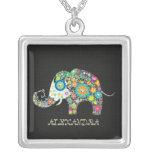 Flores en una forma de un elefante joyerias personalizadas