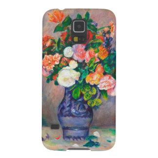 Flores en una pintura de Pedro Auguste Renoir del