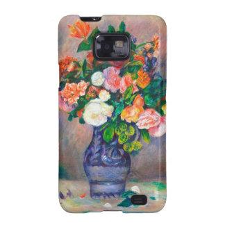Flores en una pintura de Pedro Auguste Renoir del Samsung Galaxy SII Funda