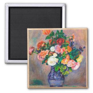 Flores en una pintura de Pedro Auguste Renoir del  Iman Para Frigorífico