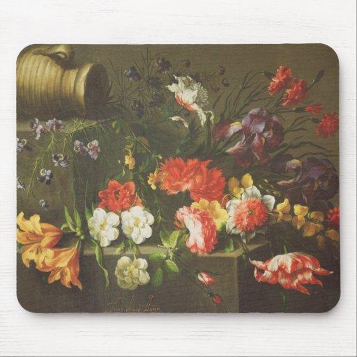 Flores en una repisa, 1665 alfombrilla de ratones