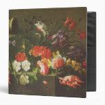 "Flores en una repisa, 1665 carpeta 1 1/2"""