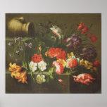 Flores en una repisa, 1665 póster