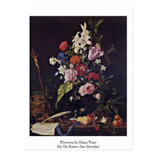 Flores en Vase de cristal By De Heem enero Davidsz Postales
