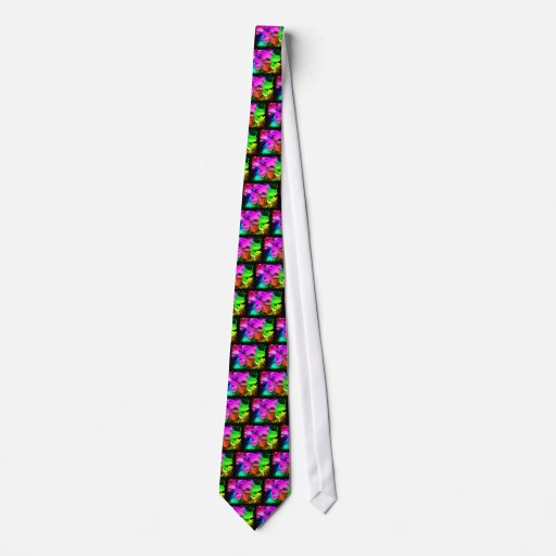 Flores enrrolladas de la diversión corbata personalizada