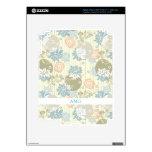 Flores enrrolladas de la impresión de pantalla en  iPad 3 pegatina skin
