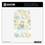 Flores enrrolladas de la impresión de pantalla en  calcomanías para iPod touch 4G