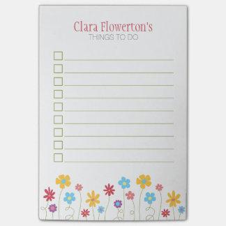 Flores enrrolladas de la primavera para hacer la post-it® notas