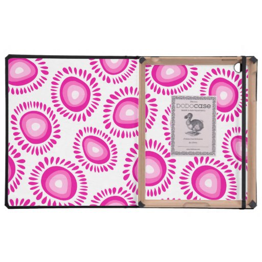 Flores enrrolladas rosadas preciosas DodoCase iPad Protectores