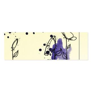 Flores enturbiadas, azules tarjetas de negocios