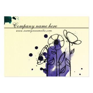Flores enturbiadas, azules tarjetas de visita